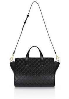 c89658f66b4e pelican satchel in black debossed french bull - Shoulder bag Women - Bags  Women on Alexander Wang Online Store