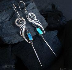 DISCO (серебряные серьги с аммолитом) – купить в интернет-магазине на Ярмарке Мастеров с доставкой