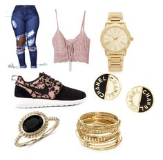 """Untitled #15"" by hellokitty379921 on Polyvore featuring Jens Pirate Booty, NIKE, Michael Kors, Chanel, Blue Nile and ABS by Allen Schwartz"