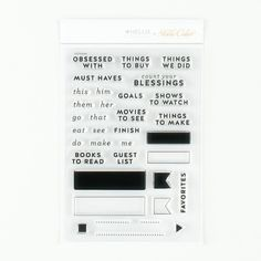 Stamp Set: Listers by Hello Forever at Studio Calico