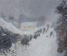 Nicholas Hely Hutchinson (b.1955) — Snow in the Lane (800x664)