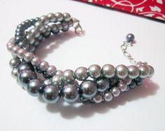 Wedding Jewelry - Chunky Twisted Pearl Braided Bracelet by SLDesignsHBJ