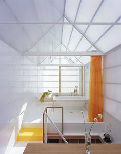 島田陽建築設計事務所/Tato Architects の オリジナルな 洗面所/風呂/トイレ 山崎町の住居