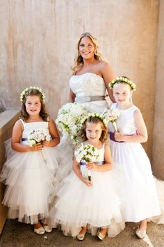 Rose Headpieces for Flower Girls   photography by http://www.adelineandgrace.com