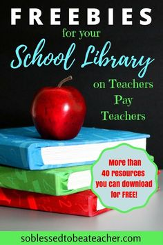 40 FREE products for the Library/Media Center. - Over 40 FREE products for the Library/Media Center. - Over 40 FREE products for the Library/Media Center. School Library Lessons, School Library Displays, Library Lesson Plans, Middle School Libraries, Elementary School Library, Library Skills, Elementary Library Decorations, School Library Decor, Class Library