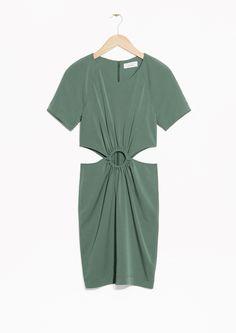 Cutout Buckle Dress - Green - & Other Stories