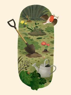 The Secret Garden Project on Behance - Project . The secret garden project on Behance – Art And Illustration, Floral Illustrations, Watercolor Illustration, The Secret Garden, Garden Drawing, Dibujos Cute, Diy Garden Projects, Illustrators, Doodle