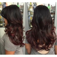 black cherry sombre hair - Google Search