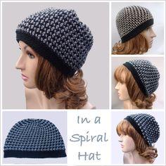 In a Spiral Crochet Hat - FREE crochet pattern from CrochetN'Crafts.