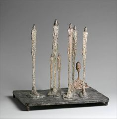 The Forest (Composition with Seven Figures and a Head) Artist: Alberto Giacometti (Swiss, Borgonovo Chur) Date: 1950 Medium: Painted bronze Alberto Giacometti, Cleveland Museum Of Art, Art Institute Of Chicago, San Francisco Museums, Land Art, Museum Of Modern Art, Art Club, Metropolitan Museum, Art History