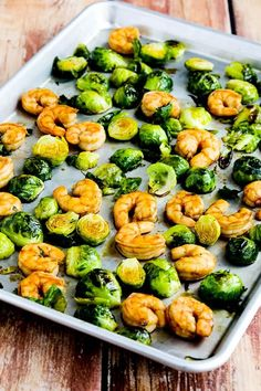 We loved this Low-Carb Roasted Asian Shrimp and Brussels Sprouts Sheet Pan Meal, and this tasty dinner idea is also Keto, low-glycemic, gluten-free (with gluten-free soy sauce), dairy-free, and South Beach Diet friendly! Use the Recipes-by-Diet-Type Index to find more recipes like this one. Click here to PIN Roasted Asian Shrimp and Brussels Sprouts Sheet Pan Meal! …