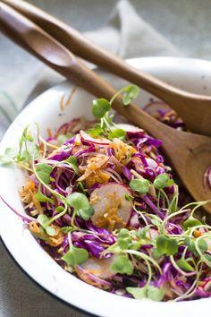 Salada Asiática de Repolho - A Mesa da Carolina