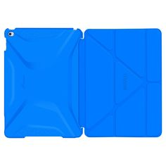 roocase Apple iPad Air 2 Origami 3D Case - Pacific Blue (RC-APL-AIR2-OG-SS-PB/BB), Barbados Blue