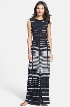 Would love this dress for Caribbean! Taylor Dresses Stripe Jersey Maxi Dress   Nordstrom