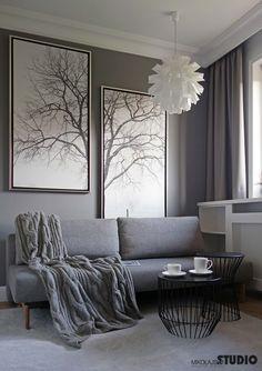 Nostaligic grey interior by mikolajskastudio
