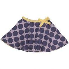 SKATYSKIRT polka dot 100% cotton flared girls skirt 12,96
