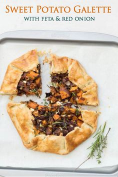 red onion feta and sweet potato galette sweet potato galette recipes ...