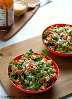 Chicken Recipes : Chopped Chicken BBQ Salad