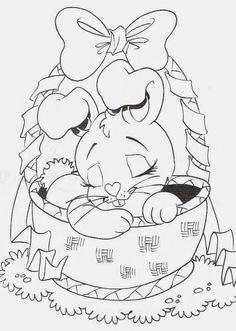 40 Rabbits Drawings to Color, Paint and Print - Free Online Courses - Sabeth Spring Coloring Pages, Easter Coloring Pages, Animal Coloring Pages, Coloring Book Pages, Coloring Pages For Kids, Coloring Sheets, Easter Projects, Easter Crafts, Easter Bunny Colouring