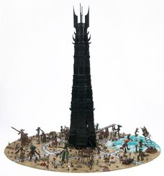 orthanc1 930x1000 One of the Two Towers in Minifig LEGO Scale