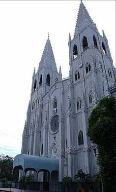 San Sebastian Church - Manila, Phillippines An example of the revival of Gothic Architecture in the Philippines.  It is the only all-steel church in Asia.