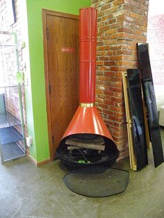 Colored Metal, Stand-Alone Fireplaces
