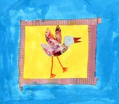 Art Projects for Kids: Magazine Collage Bird