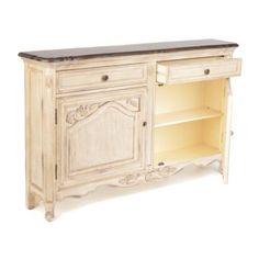 Handpainted Antique Ivory Cabinet | Kirklands