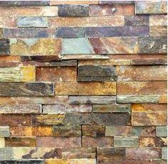 Copper Rust Slate Ledgestone - Fireplace stacked ledge stone