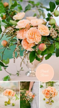 Wedding Flowers | Peach Roses | Lisa Lefkowitz Photography | Sparkle & Swish Wedding Blog