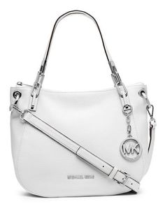 2361cd7b46b5 See more. Michael Michael Kors Brooke Leather Shoulder Tote Bag White Cheap Michael  Kors, Handbags Michael Kors