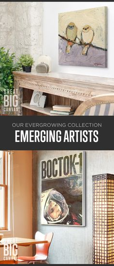 Discover new art from talented emerging artists to add a splash of genius to your space. With everything from abstracts, to illustrations, and everything in between our Emerging Artists Collection has something for every room in your home. Find your favorite at GreatBIGCanvas.com.