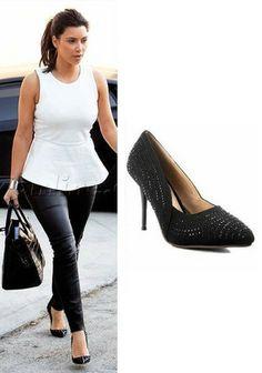 Demi Lovato Sequin Black Stiletto Shoes   Celebrity Heels (Heeled ...