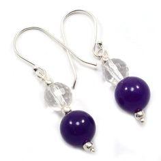 Silvestoo India Amethyst & Crystal Quartz Gemstone 925 Sterling Silver Earring PG-101573   https://www.amazon.co.uk/dp/B06XZXSFKV