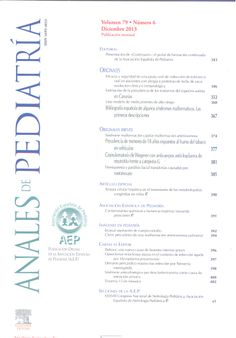 Anales de Pediatría. Disponible en la Hemeroteca (Biblioteca Central - Nivel 4A)