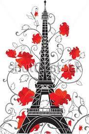 Resultado de imagen para dibujos de la torre eiffel rosa
