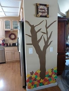 Cute idea - A thankful tree for the month of November-each day add a leaf with something written on it that your child is thankful for! by olive