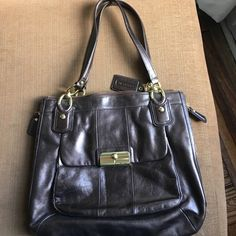 Mint Coach leather metallic purse Pre owned excellent condition. Beautiful interior and gold hardware. Coach Bags Shoulder Bags