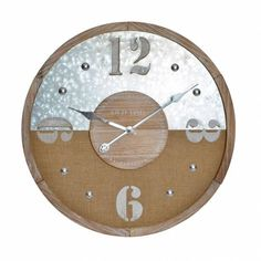 Clock, Metal, Wall, Home Decor, Tree Hut Watches, Gears, Natural Wood, Crystals, Watch