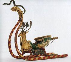 vintage sleighs marinni: Старинные сани и саночки.