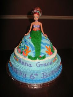 Ariel doll cake - I did 3 of these and had to turn down requests for several more