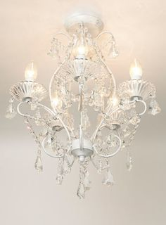 Hermione 5 light flush - Ceiling Lights - Home, Lighting & Furniture Flush Lighting, Flush Ceiling Lights, Lighting Sale, Home Lighting, Chandelier Lighting, Loft Conversion Bedroom, British Home, Crystals In The Home, Bedroom Lighting