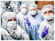 Behind the scenes #selfie from my #Minneapolis client's #commercial shoot in the cleanroom. Can you tell which one is me?  #BeSomebody #ShotOniPhone #Inspire #Minnesota