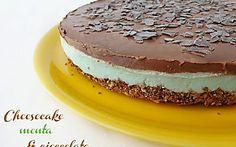 Cheesecake alla menta e cioccolato | Ricetta estiva menta e cioccolato