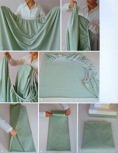 come piegare in modo perfetto i lenzuoli con angoli.