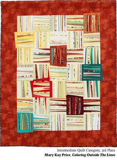 Coloring Outside The Lines by mary Kay Price.  2014 Northwest Quilting Expo.  3rd Place, Intermediate Quilt category.