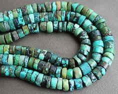 Turquoise Heishi Beads 9mm HALF STRAND