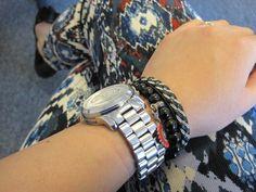 Zara navajo jeans and Michael Kors watch