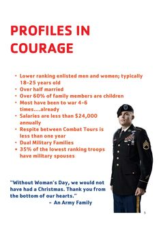 Check out our Profiles in Courage of those that are helped with Operation Holiday Joy!