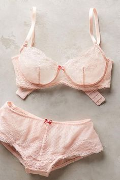 Last-Minute Valentines Day Gift Ideas: Anthropologie Pink Lingerie Set // More Cute Valentine's Day Gift Ideas: (http://www.racked.com/shopping/2016/2/10/10901366/valentines-gift-ideas#6299801)